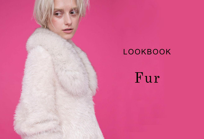 loungedress lookbook fur